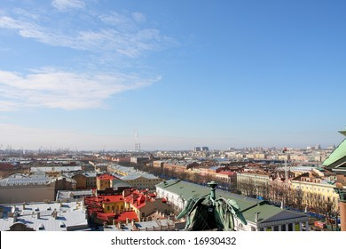 Panorama of St.-Petersburg from height of 45 meters