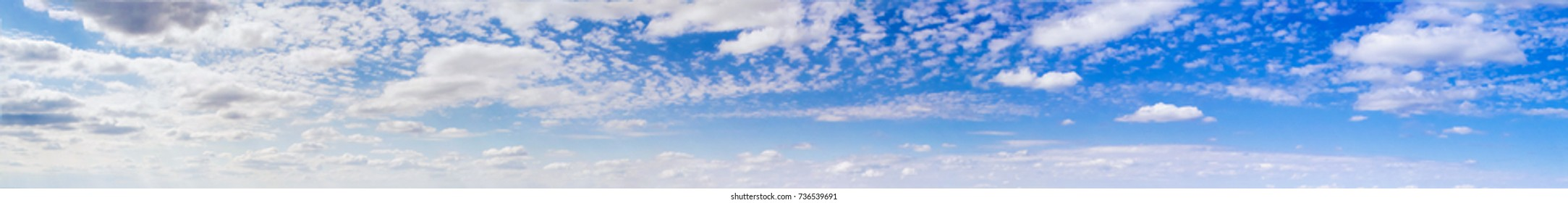 Panorama a summer landscape the sky with clouds, sunlight, a background. Shooting from air.