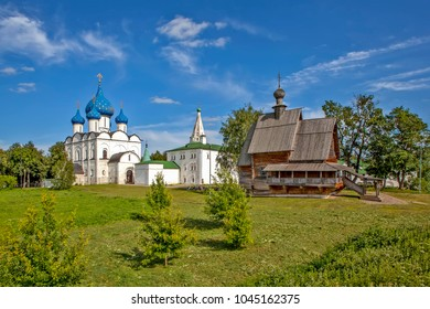 Panorama of the Suzdal Kremlin. Suzdal. Vladimir region. Gold ring. Russia