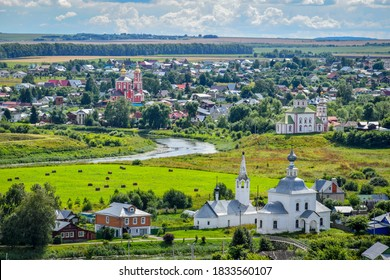 Panorama of Suzdal town, Russia