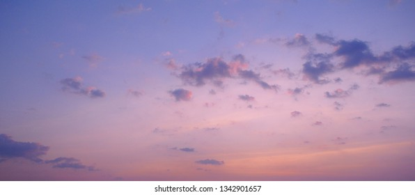 Panorama of sweet sky with clouds