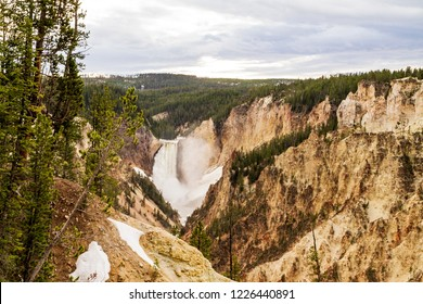Panorama taken from Inspiration Point in Yellowstone