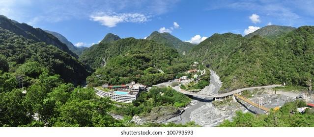 Panorama at Taroko Gorge National Park, Tianxian, Taiwan