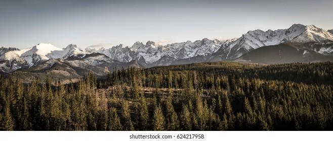 Panorama tatry - Shutterstock ID 624217958