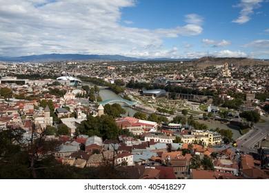 panorama of Tibilisi, Georgia