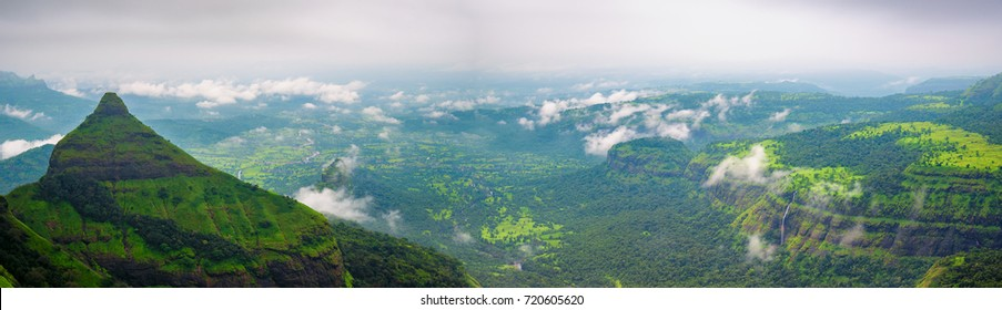 Panorama of tiger point in lonavala