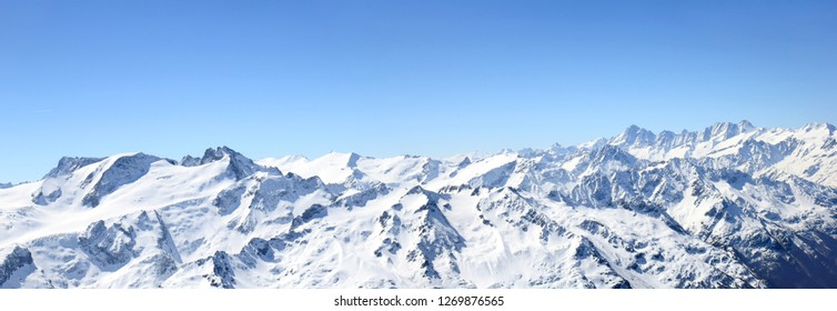 Panorama of Titlis - the Alps Mountain peak in Switzerland (large stitched file)