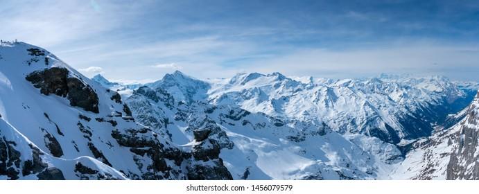 Panorama of Titlis mountain in summer, Switzerland