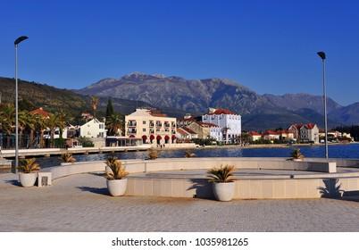 Panorama of Tivat town, Montenegro