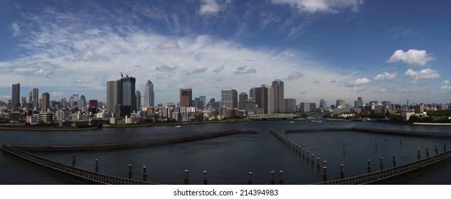 Panorama of Tokyo, Japan.