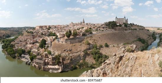 A panorama of Toledo, Spain