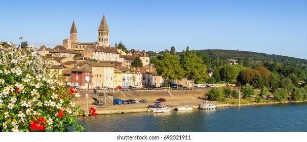 Panorama of Tournus, France