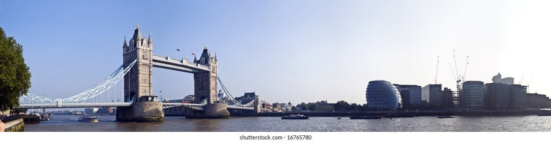 panorama of Tower Bridge, London