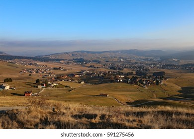 panorama of the town of Asiago in the province of Vicenza in northern Italy