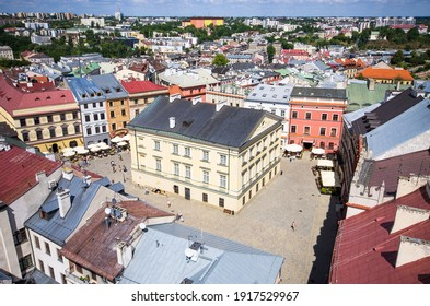 Panorama with town square of Lublin - Poland