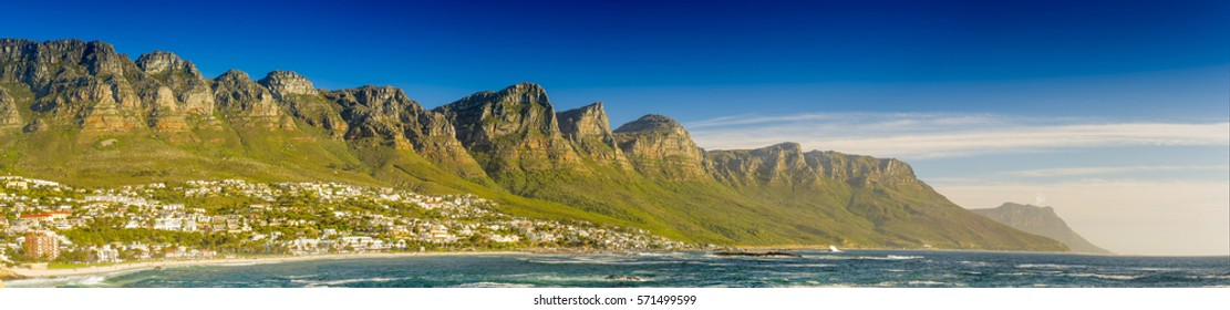 Panorama of the Twelve Apostles in Cape Town, South Africa