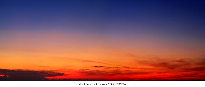 Panorama twilight sky and cloud at morning background image