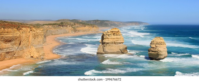 Panorama with the Two Apostles on the Great Ocean Road