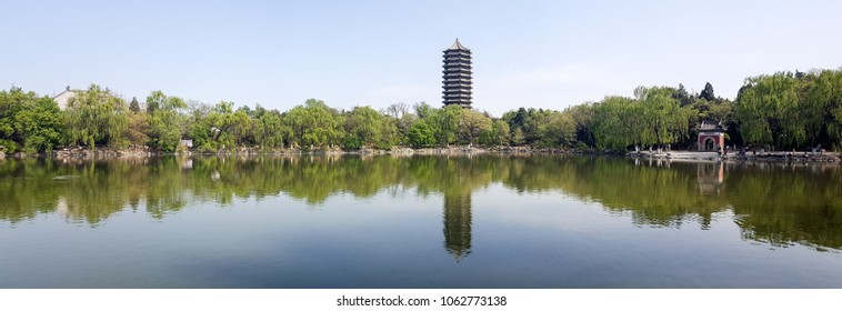 Panorama of The Untitled Lake of Peking University