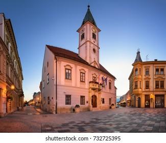 Panorama of Varazdin Townhall in the Morning, Croatia