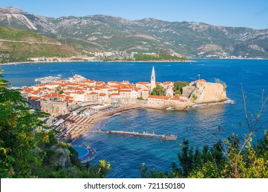 Panorama Of The Venetian Walls Of Budva A Montenegrin Medieval Town On The Adriatic Sea Popular Tourist Destination In Montenegro Eastern Europe