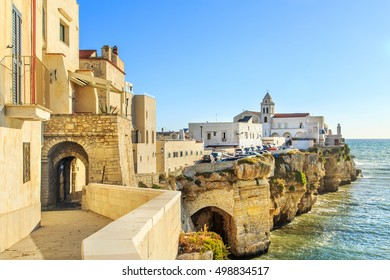 Panorama of Vieste town in Cape Gargano, Apulia, Italy
