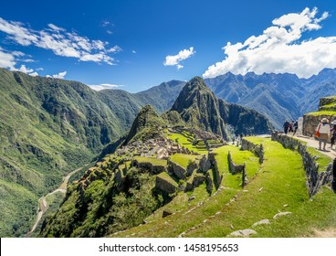 Panorama view of Ancient city - Machu Picchu in Peru