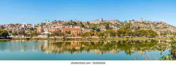 Panorama view at the Antananarivo from Anosy lake - Madagascar
