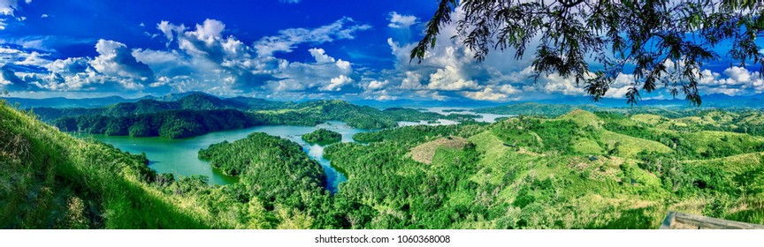 Panorama view, bukit matang kaladan, Aranio, Banjar, Kalimantan Selatan, Indonesia