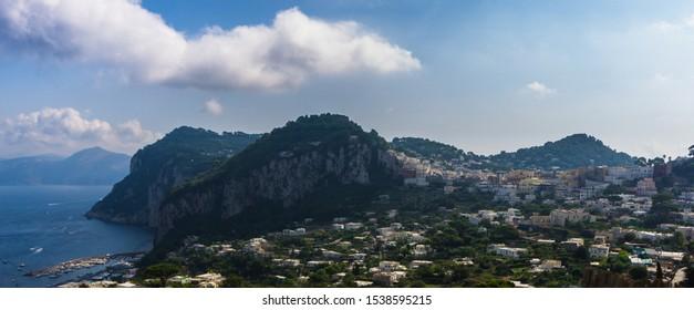 Panorama view to Capri city