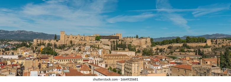 Panorama view of the castle Saint John or la Suda de Tortosa, Catalonia, Tortosa, Tarragona, Spain