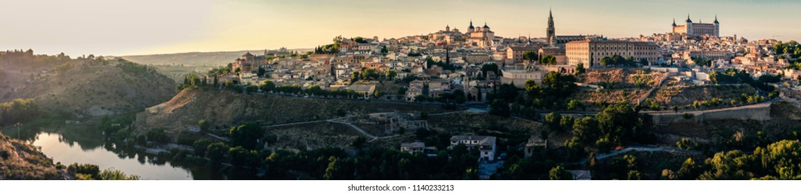 Panorama view of the city of Toledo, Spain