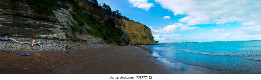 Panorama View of cliffs by Long Bay Beach