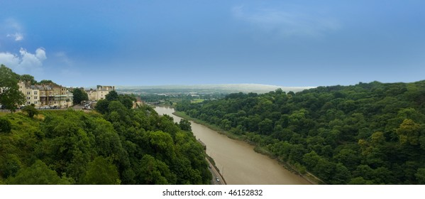 panorama view from clifton suspension bridge