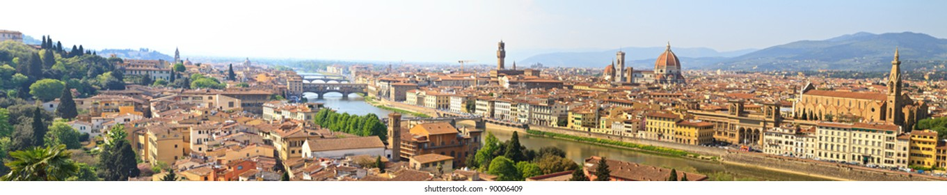 Panorama View of Florence / Firenze (High Res), Tuscany, Italy