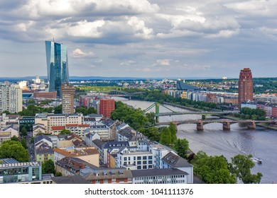 Panorama view of Frankfurt am Main, Germany