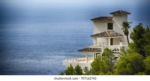Panorama view. Holiday villa. Spain, Altea Hills