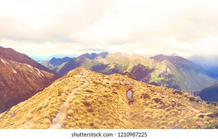 Panorama View of Kepler Track, New Zealand's Great Walks
