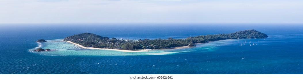 Panorama view of Lipe island ,Thailand.