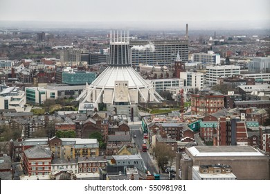Panorama view of Liverpool, Merseyside, United Kingdom