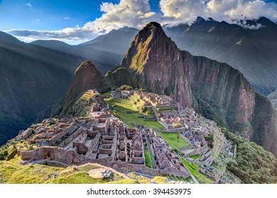 Panorama view of Machu Picchu sacred lost city of Incas in Peru