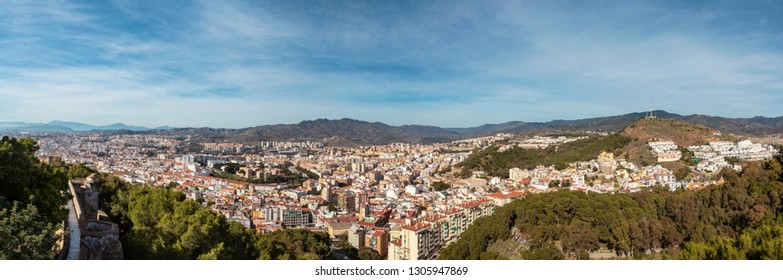 Panorama View of Malaga