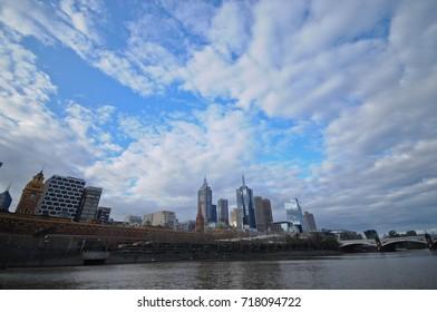 Panorama view of Melbourne city Australia