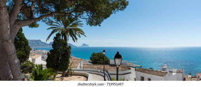Panorama view from the old town of Altea located at the Costa Blanca in the Province of Alicante in Spain