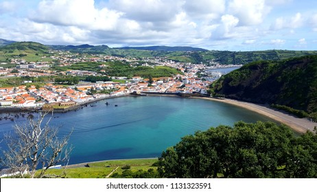 Panorama view on Horta, Faial, Azores