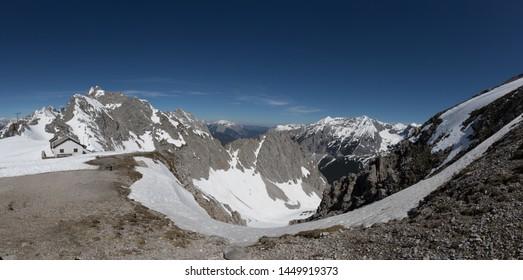 Panorama View on Peak Mountain Hafelekar Tirol