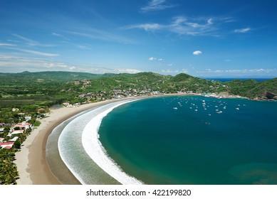 panorama view on resort of san juan del sur nicaragua