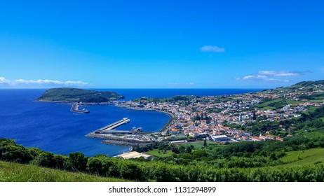 Panorama view over Horta, Faial, Azores