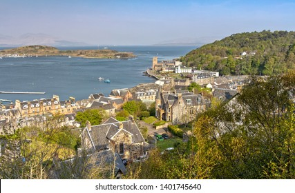Panorama View over Oban in Scotland from McCaig's Tower