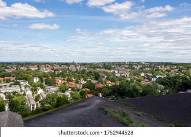Panorama view over the Ruhr area North Rhine Westphalia Gelsenkirchen
